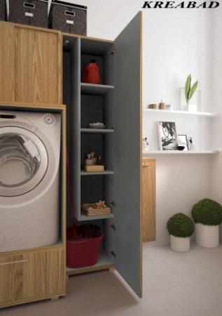Badmobel Mit Waschmaschinenschrank.Badmobel 3m2